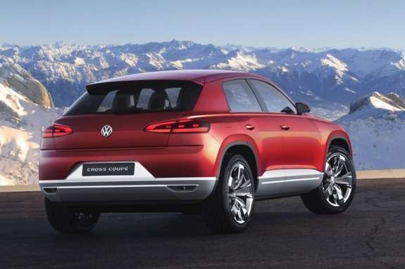 Volkswagen Cross Coupe TDI plug-in hybrid Concept side-rear view