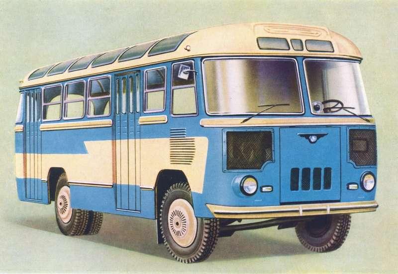ПАЗ-652, шестой опытный образец. Именно втаком виде автобус пошел впроизводство.