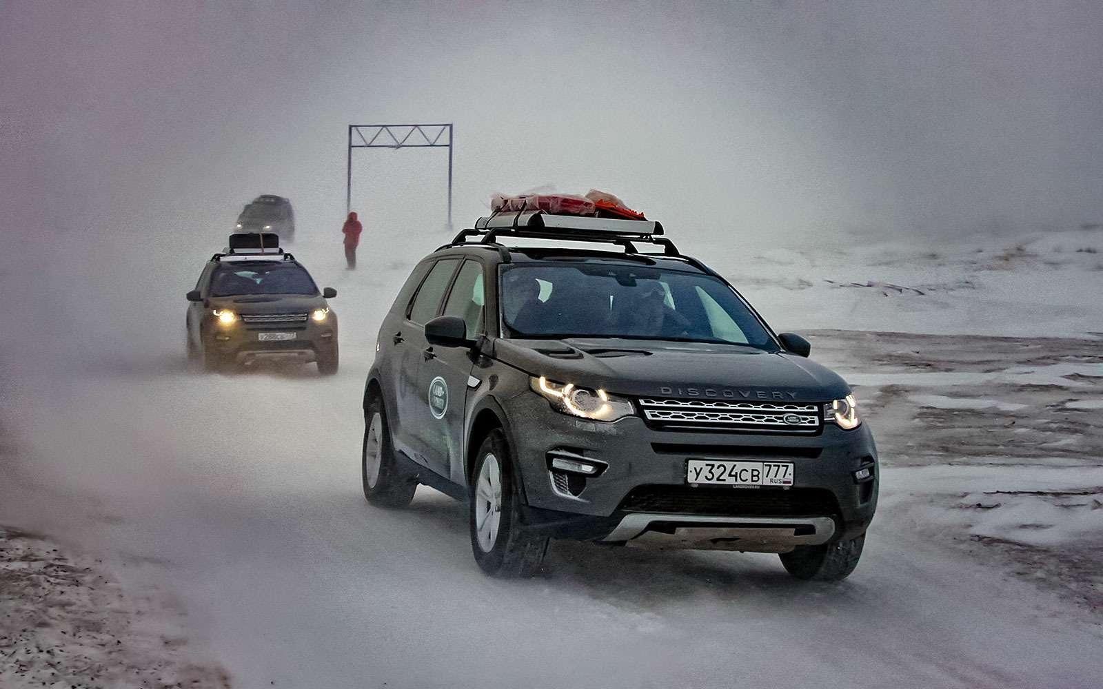 Зарулем Land Rover Discovery Sport ксамоедам наЯмал— фото 714357