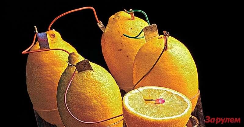 Скромная энергетика лимонной батареи компенсируется внешностью изапахом.