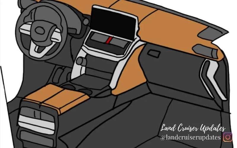 Land Cruiser 300: первые изображения интерьера