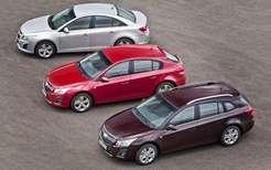 Тритипа кузова Chevrolet Cruze