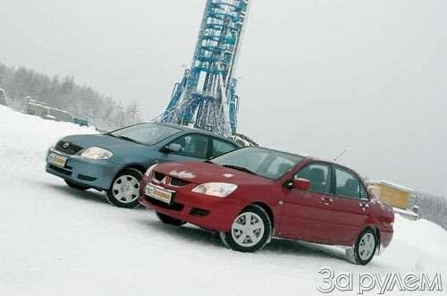 Парк ЗР: Toyota Corolla, Mitsubishi Lancer. Накосмодром!— фото 53932
