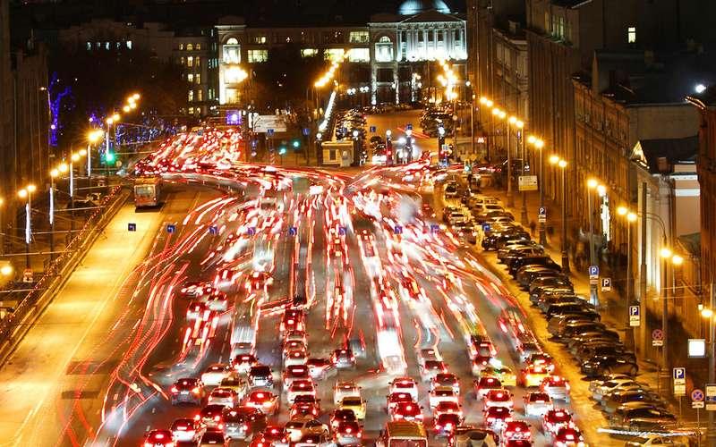картинки город москва пробки
