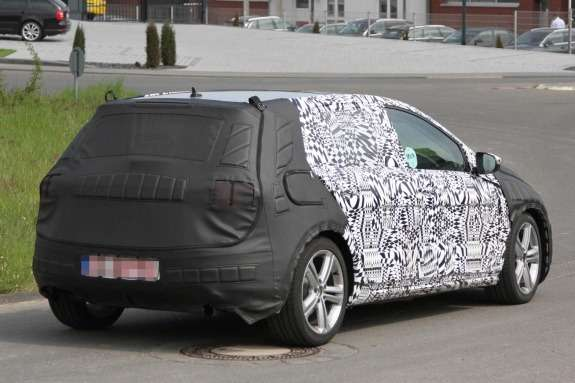 Volkswagen Golf GTI test prototype side-rear view