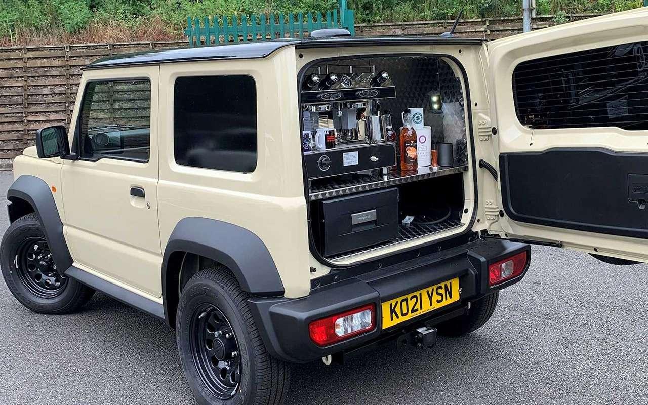 Suzuki Jimny превратили вмобильную кофейню— фото 1274632