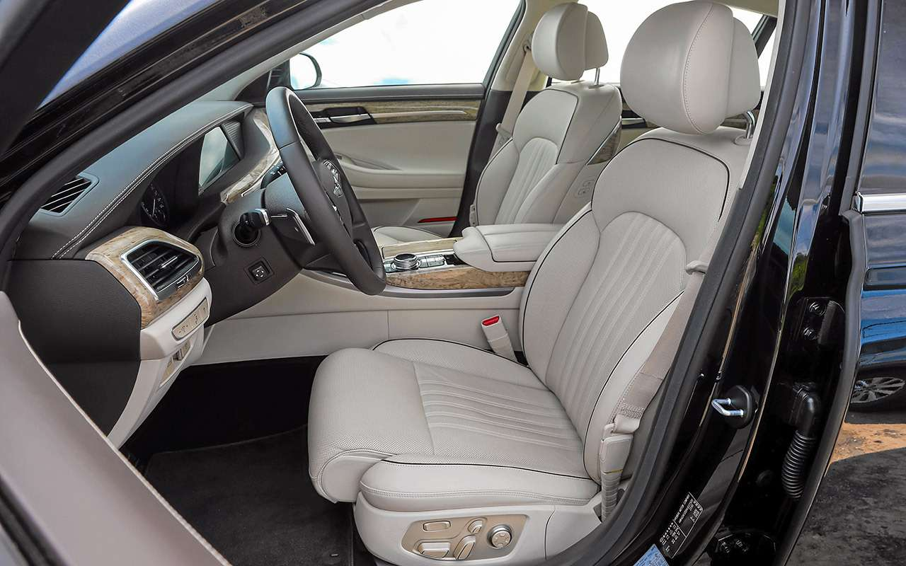 Большой тест престижных седанов: новый Lexus LS500и конкуренты— фото 928752
