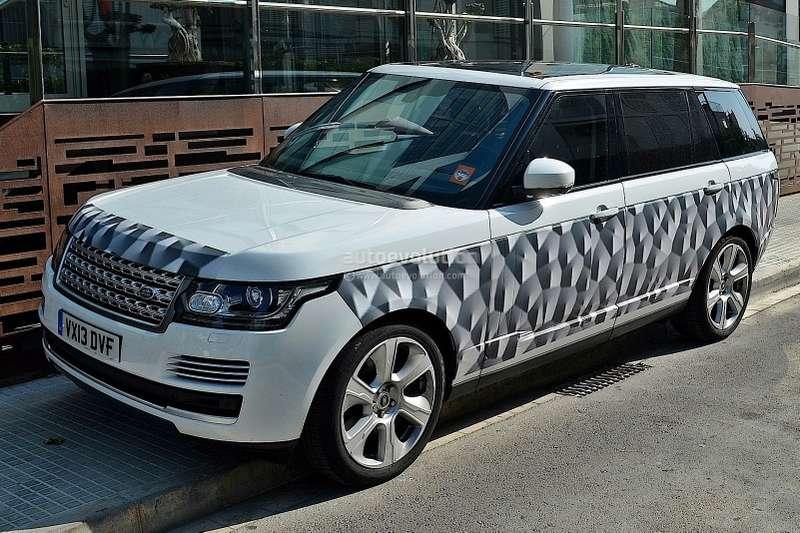 long wheelbase 2014 range rover spied with minimal camo 1080p 1no copyright