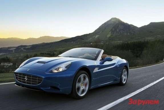 2012 Ferrari California side-front view