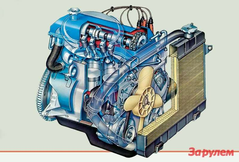 Мотор ВАЗ-2101 заметно отличался отфиатовского идовольно долго считался надежным инеприхотливым.