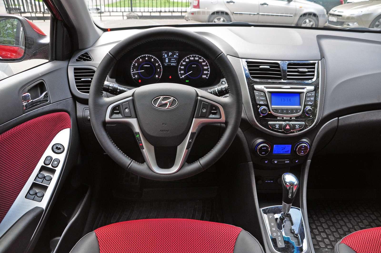 Интерьер Hyundai Solaris хэтбчек