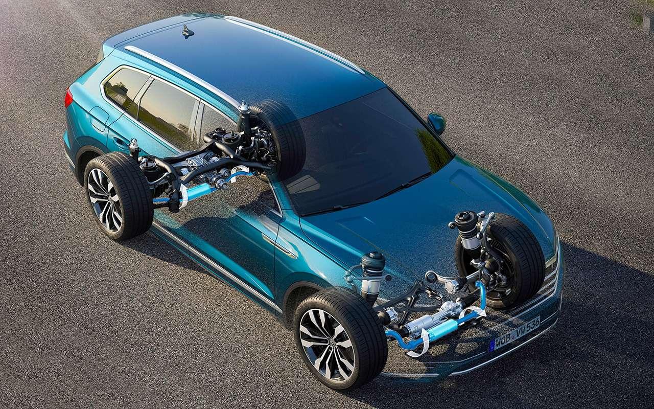 Новый Volkswagen Touareg: дизайн дляКитая истранная подвеска— фото 880140