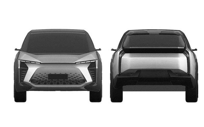 Новый Toyota BZ— патентные изображения