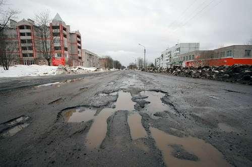 Состояние дорог вгороде Валдай (Новгородская область). Иллюстрация: http://valday.com