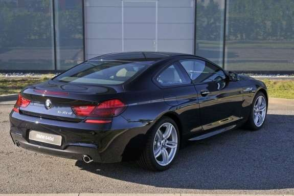 BMW640d Coupe with M-package rear view