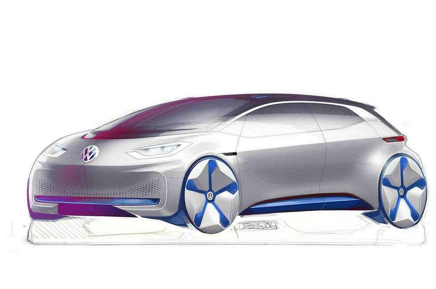 VWпоказал скетчи нового электрокара— фото 638656
