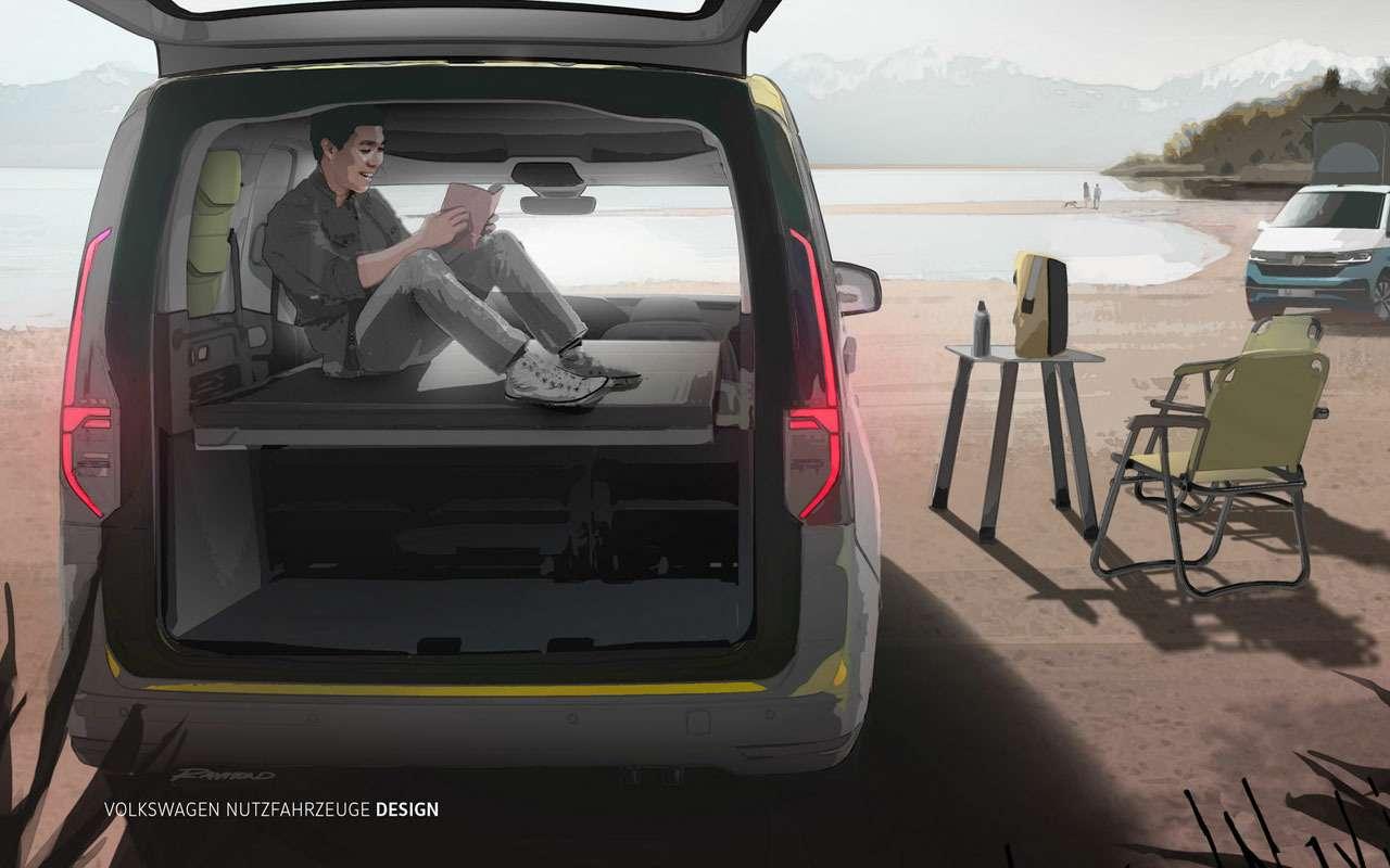 VWсделал мини-кемпер набазе Caddy— фото 1154379