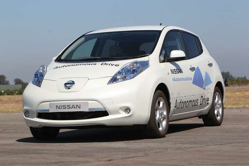 no copyright Nissan Autonomous Drive test LEAF