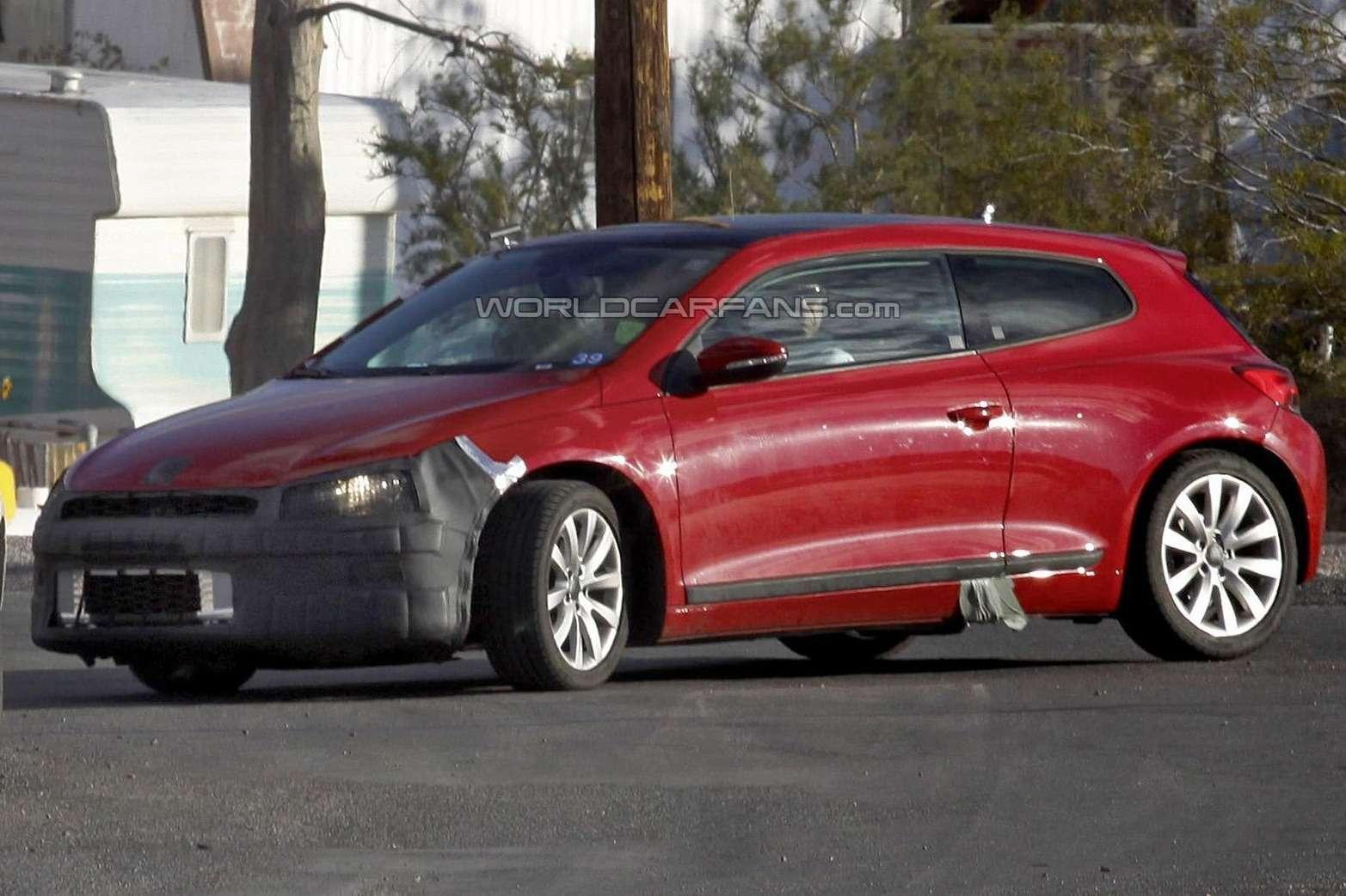 Тестовый прототип нового/обновленного трехдверного хэтчбека Volkswagen Scirocco