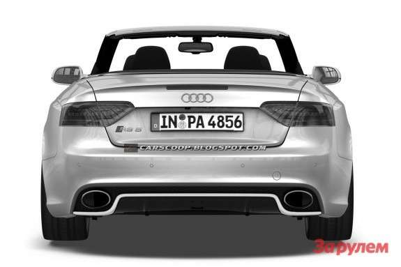 Audi RS5 Cabriolet sketch rear view