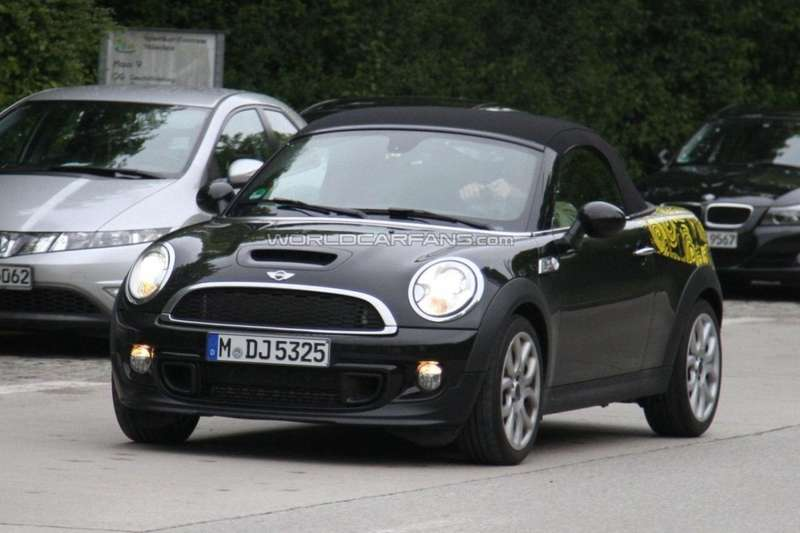 Mini Roadster spy shot front view