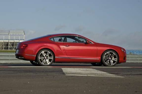 Bentley Continental GTV8side view