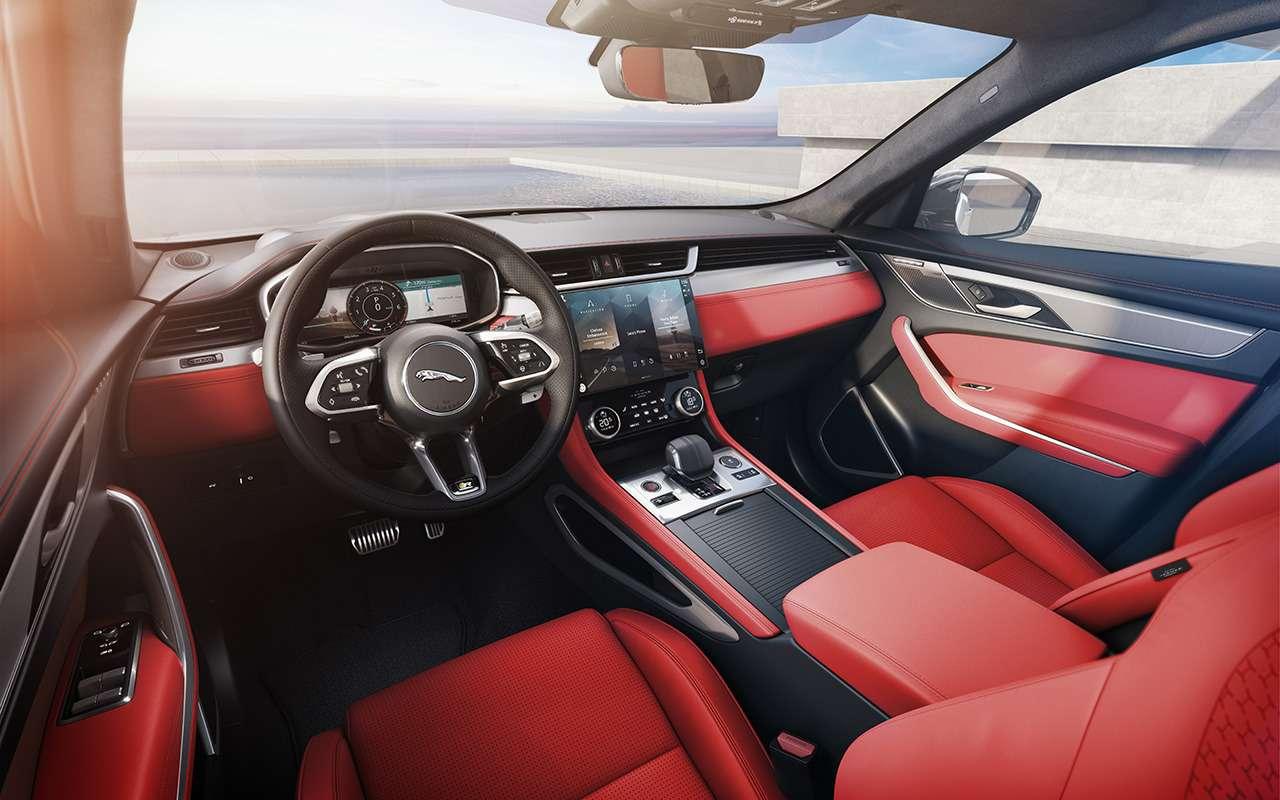 14«фишек» обновленного Jaguar F-Pace— фото 1230372