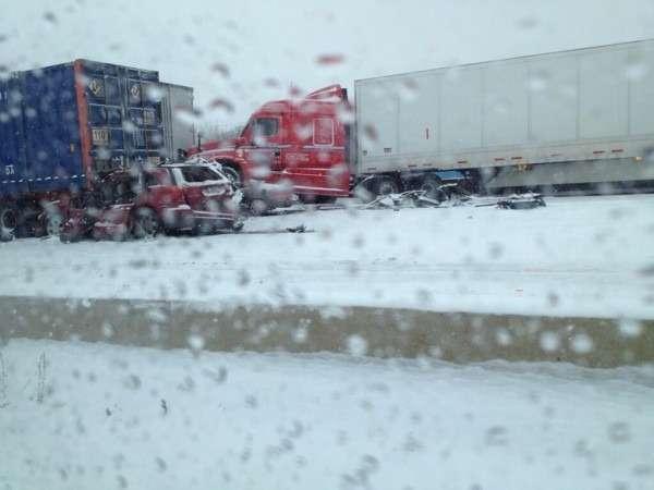 Снежный шторм вСША привел кнескольким крупным ДТП