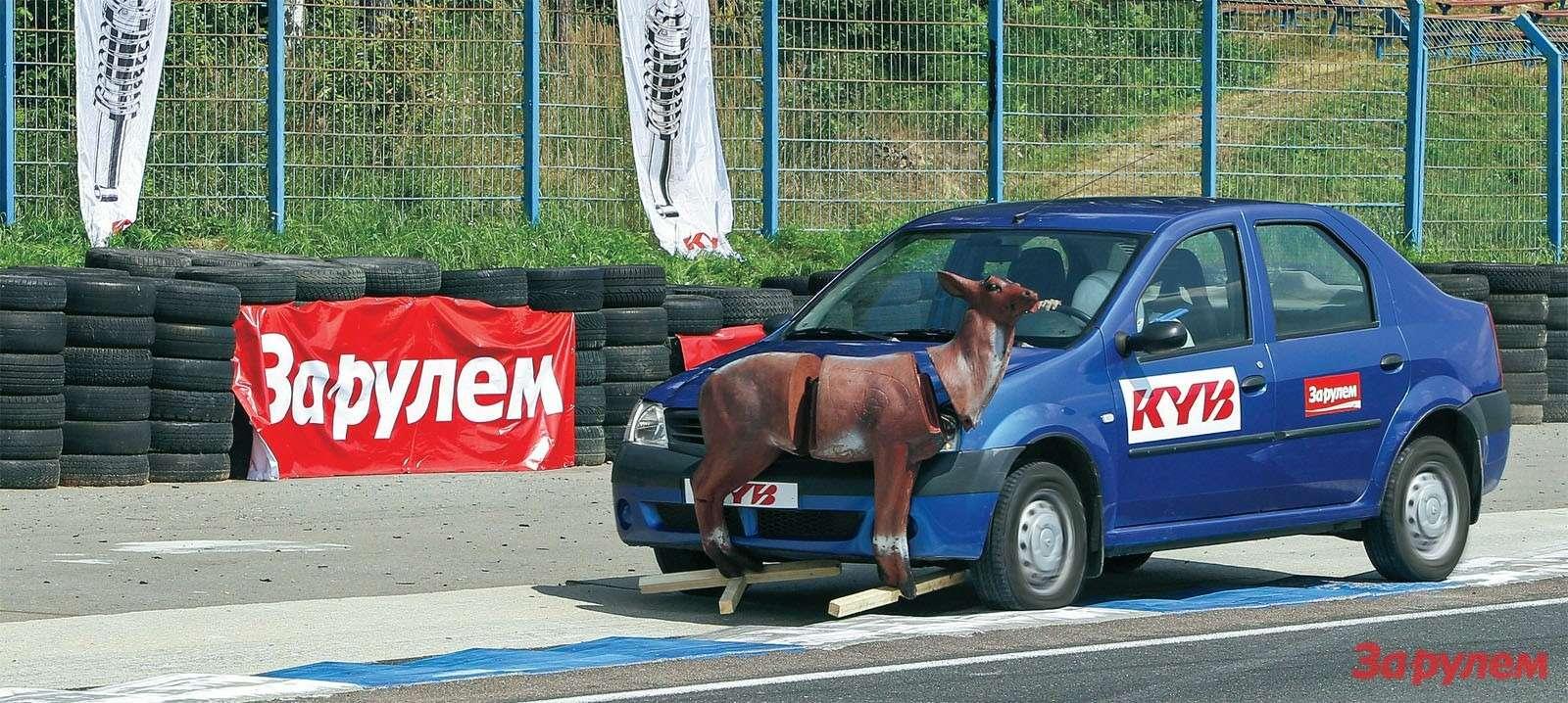 Приторможении без амортизаторов остается лишь ждать, когда плохо контролируемый автомобиль разнесет олененка накуски.
