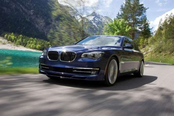 Facelifted Alpina B7 side-front view