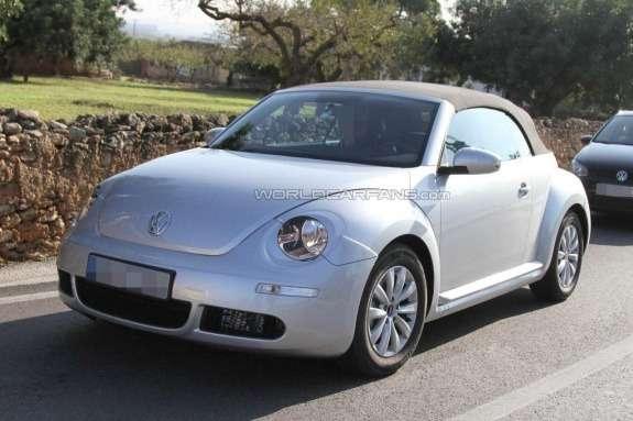 Volkswagen Beetle Convertible test prototype side-front view