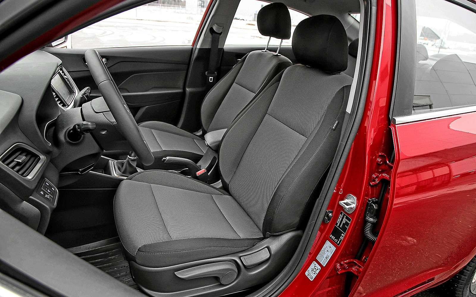 Водительское кресло Hyundai Solaris 2