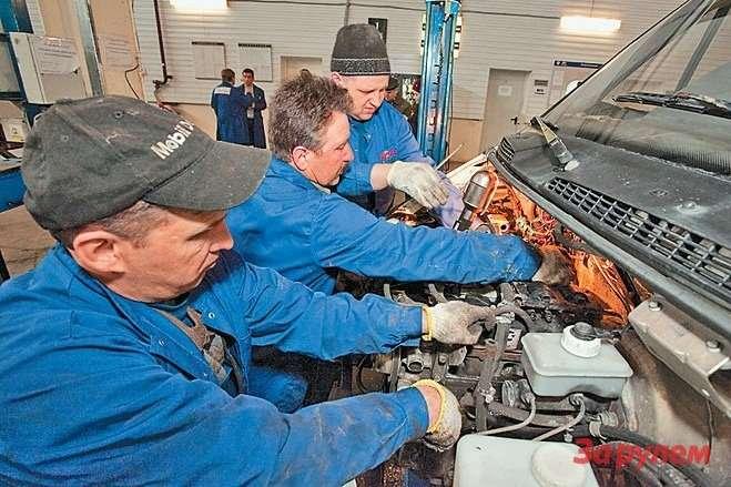 Тримеханика СТО сняли ульяновский мотор зачас снебольшим