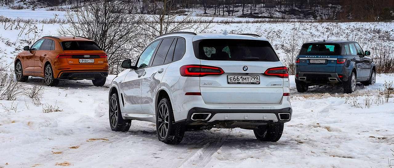 Audi Q8, BMW X5, Range Rover Sport— тест-драйв роскоши вцифрах— фото 963391
