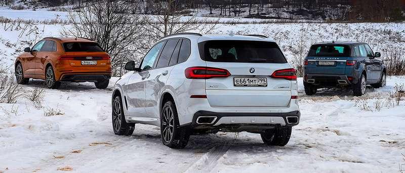 Audi Q8, BMW X5, Range Rover Sport— тест-драйв роскоши вцифрах