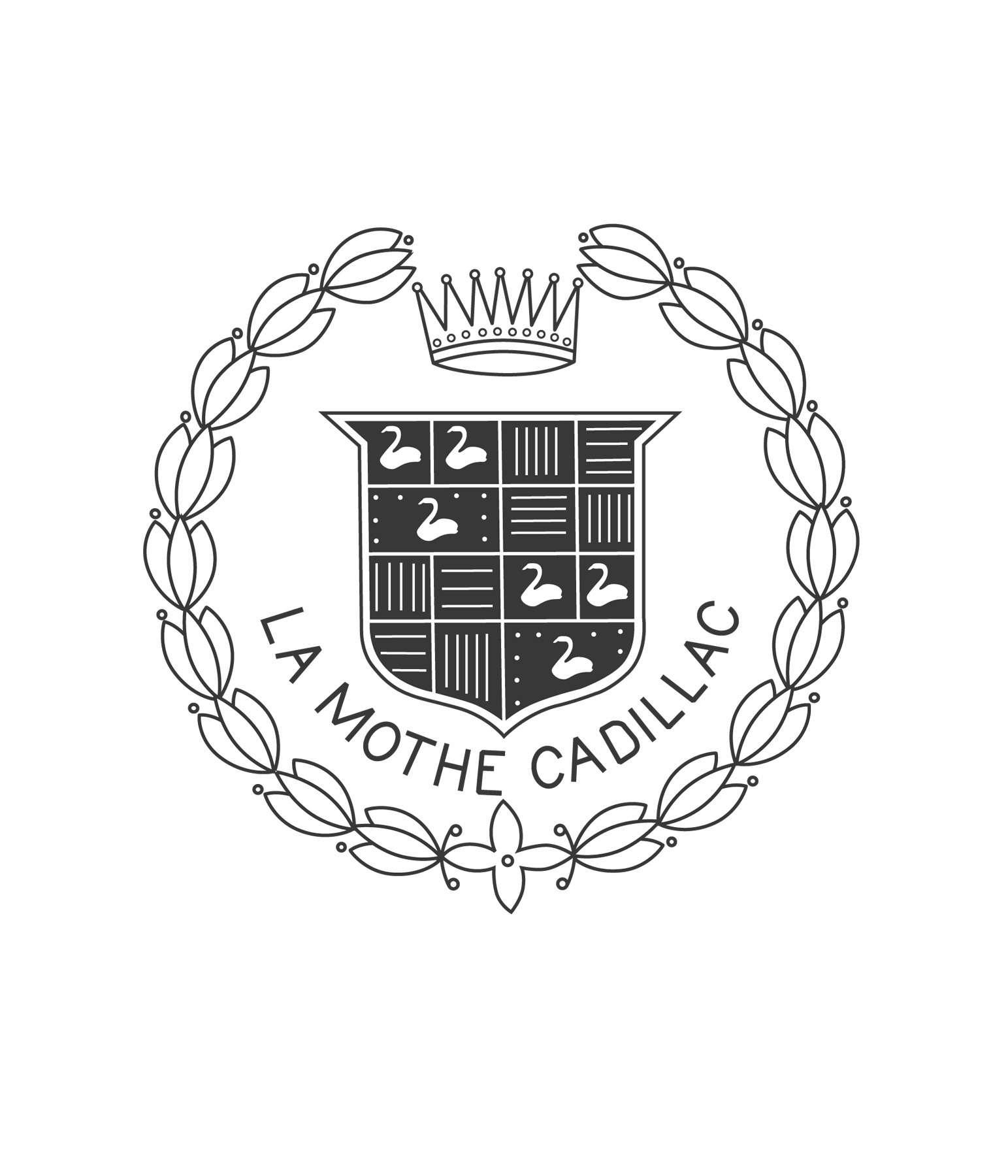 Стилизованный герб Антуана Ламэ делаМотт Кадияка, принятый заоснову эмблемы марки Cadillac.