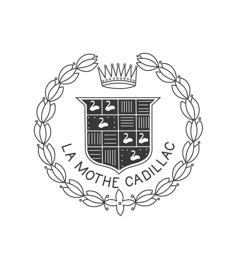 Стилизованный герб Антуана Ламэ де ла Мотт Кадияка, принятый за основу эмблемы марки Cadillac.