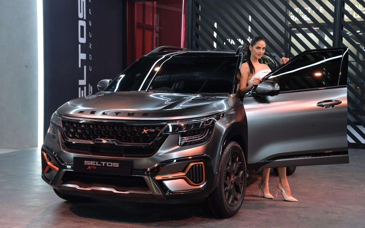 Seltos X-Line Concept посетил автосалон вНью-Дели— фото 1079805
