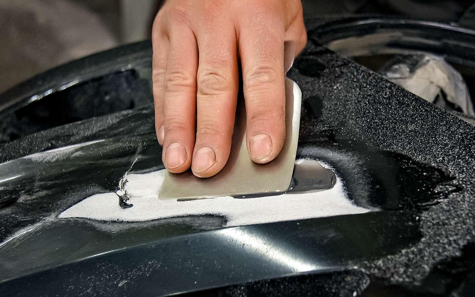 Ремонтируем бампер спомощью клея— инструкция ЗР— фото 779009