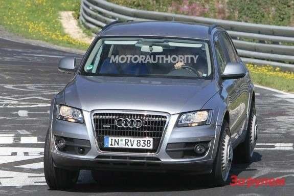 Audi Q6test-mule front view