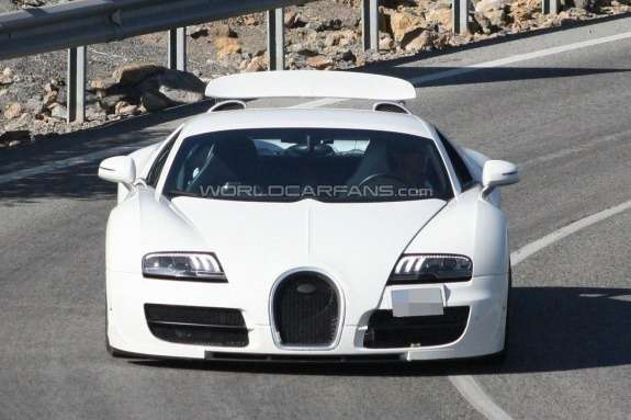 Bugatti Veyron Grand Supe Sport test prototype front view