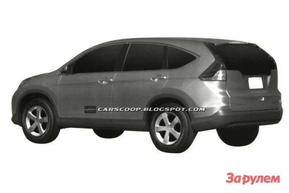 New Honda CR-V side-rear view