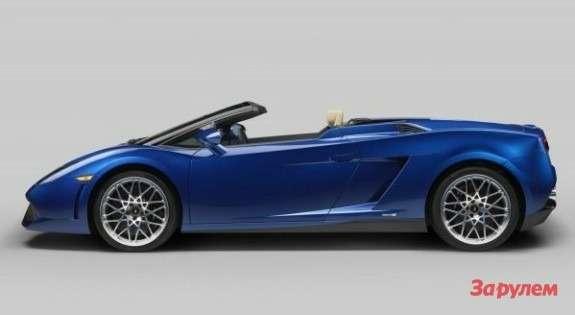 Lamborghini Gallardo LP550-2 Spyder side view