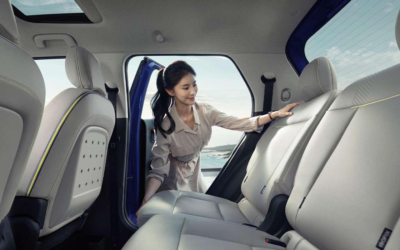 Кроссовер Hyundai Casper  первые фото салона