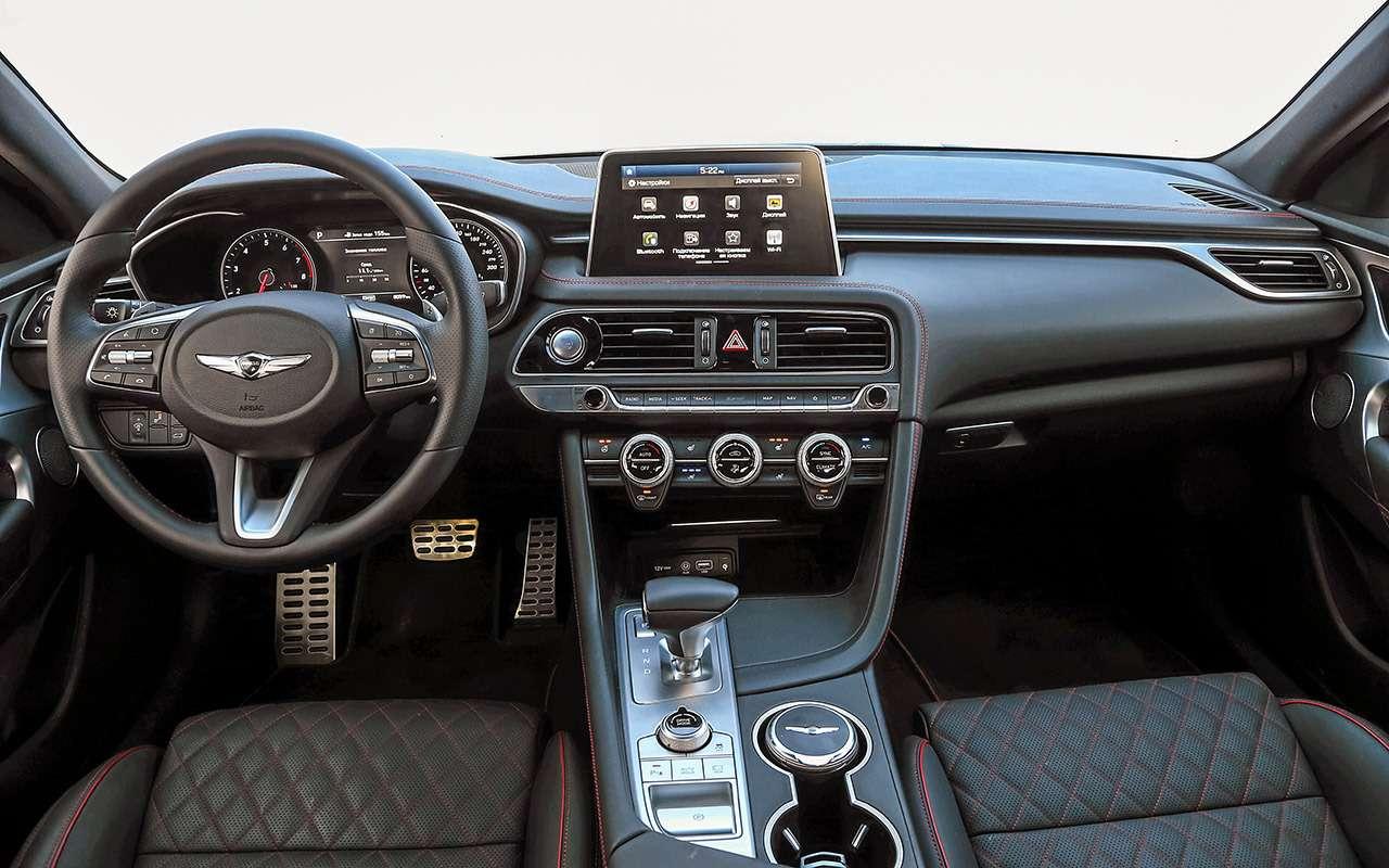 Genesis G70 против Audi A4и Jaguar XE— большой тест— фото 894689