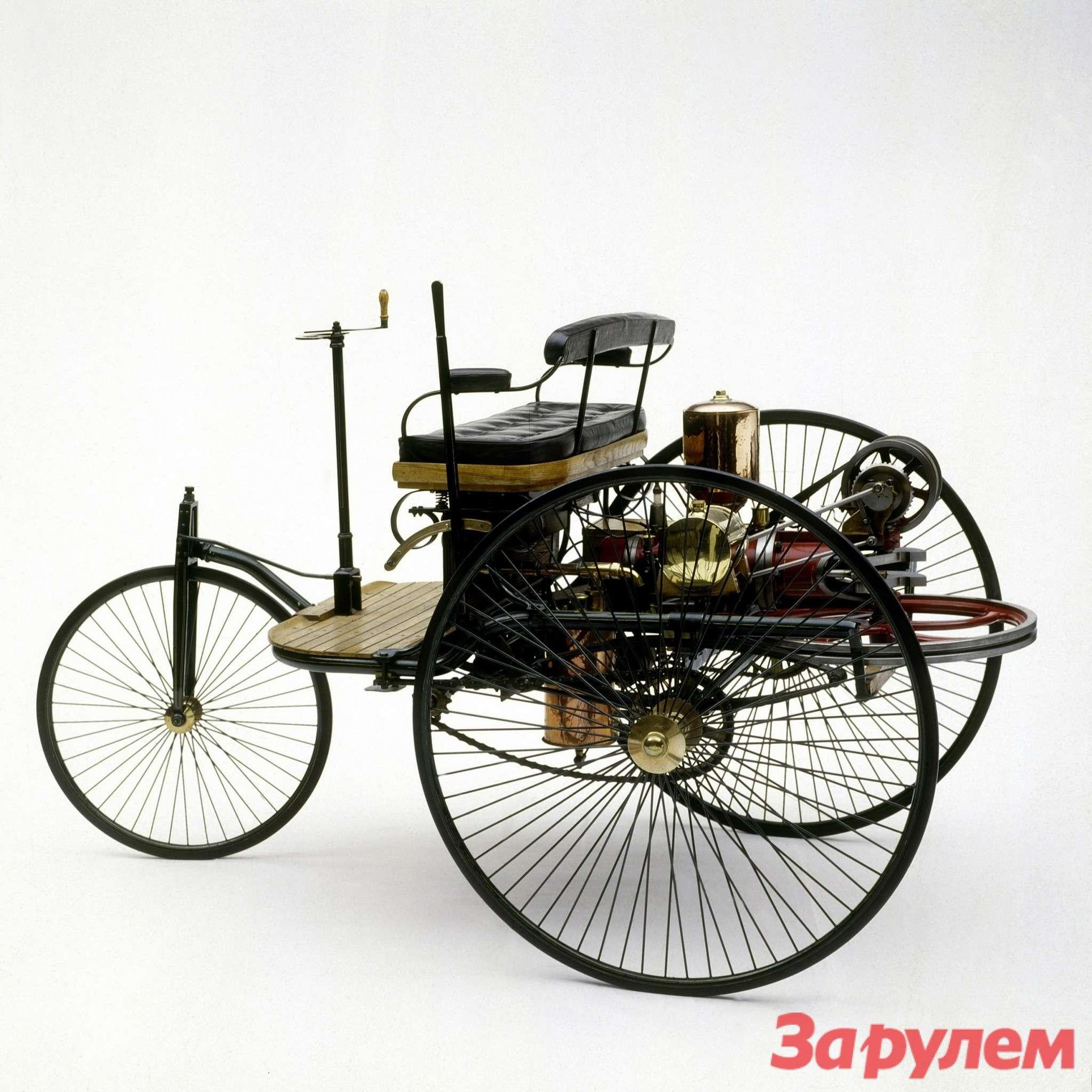 Benz Patent Motorwagen первой серии. Следом появится второй образец, мощностью уже 1,5 л.с., атретий образец 1888 года, мощностью до3л.с. будет построен серией в25машин