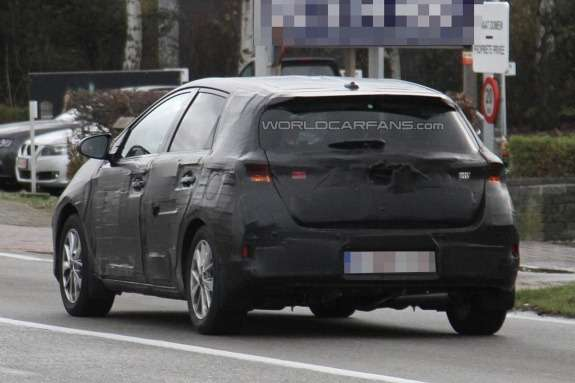 Toyota Auris test prototype side-rear view