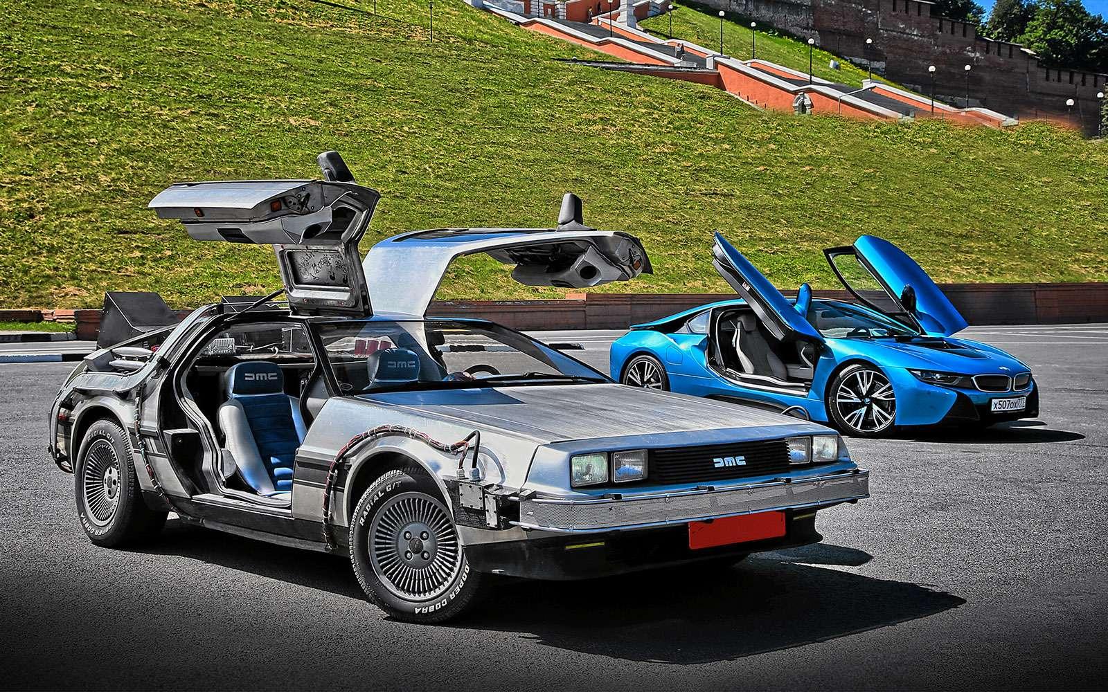 BMWi8и DeLorean DMC-12— вперед вбудущее— фото 637012