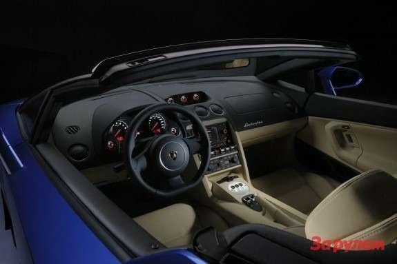 Lamborghini Gallardo LP550-2 Spyder inside