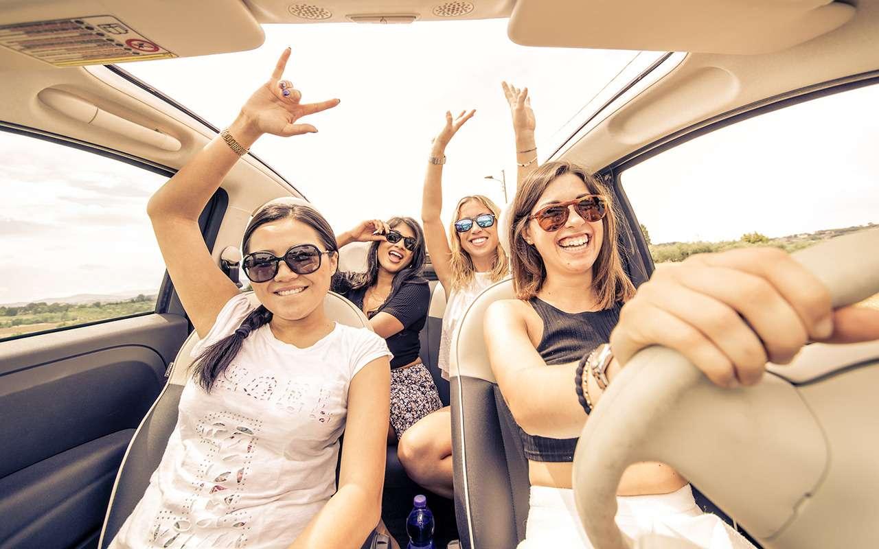 Картинка подруги в машине